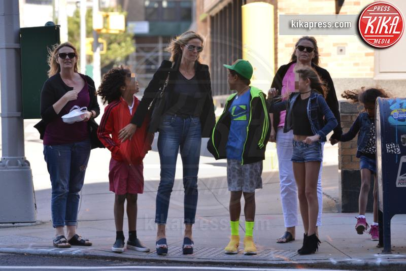 Johan Samuel, Leni Samuel, Lou Samuel, Henry Samuel, Heidi Klum - Manhattan - 10-06-2016 - Genitori da record: James Van del Beek al sesto figlio!