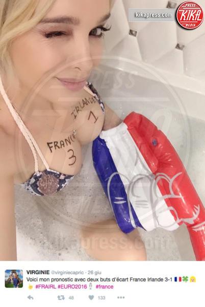 Virginie Caprice - Parigi - 28-06-2016 - Virginie Caprice, i pronostici più sexy di Euro2016