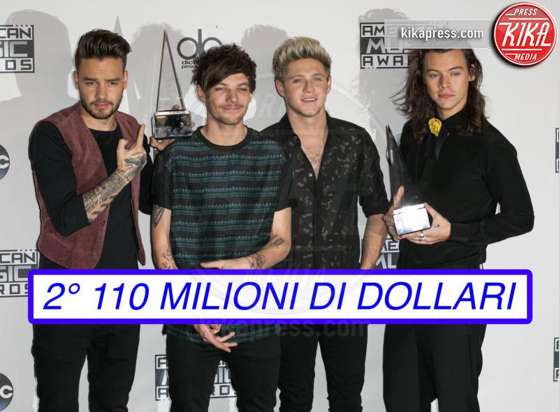 Niall Horan, Liam Payne, Louis Tomlinson, Harry Styles, One Direction - Los Angeles - 22-11-2015 - Ecco chi è la celebrity più pagata al mondo (non lui)