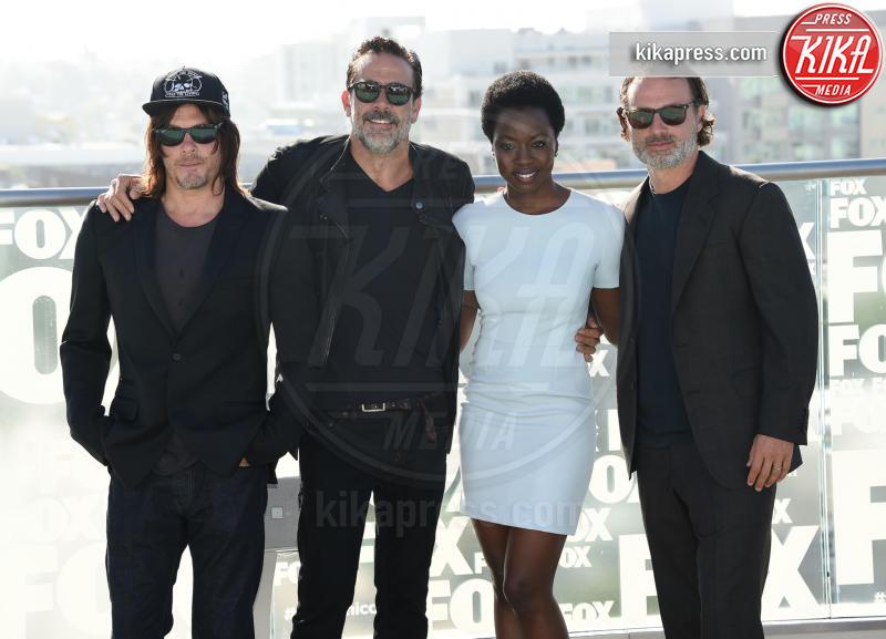 Danai Gurira, Andrew Lincoln, Jeffrey Dean Morgan, Norman Reedus - San Diego - 22-07-2016 - The Walking Dead 7, questa sera il gran finale: chi morirà?