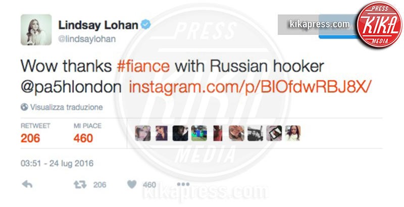 Lindsay Lohan - 25-07-2016 - Linday Lohan ed Egor, tradimento e poi aggressione?
