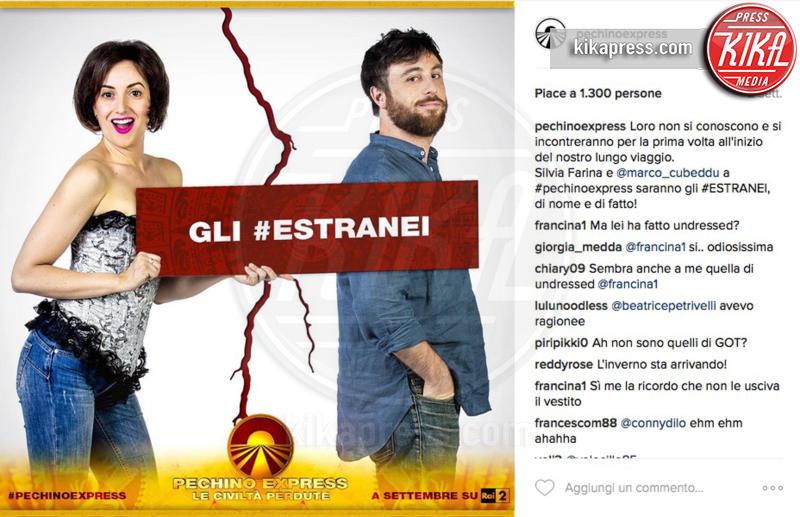 Marco Cubeddu, Silvia Farina, Gli Estranei - 28-07-2016 - Pechino Express 2016, una foto svela i finalisti?