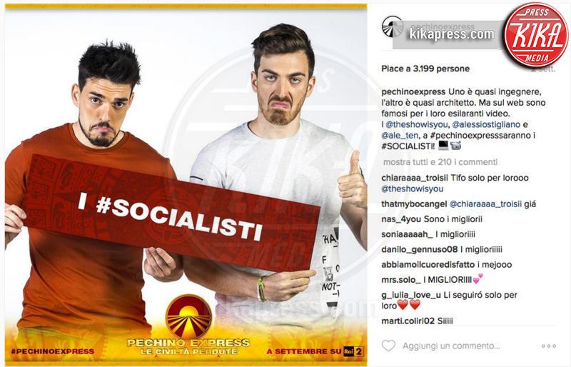 Alessio Stigliano, Alessandro Tenace, I Socialisti - 28-07-2016 - Pechino Express 2016, una foto svela i finalisti?