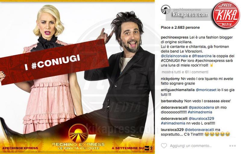 I Coniugi, Clizia Incorvaia, Francesco Sarcina - 28-07-2016 - Pechino Express 2016, una foto svela i finalisti?