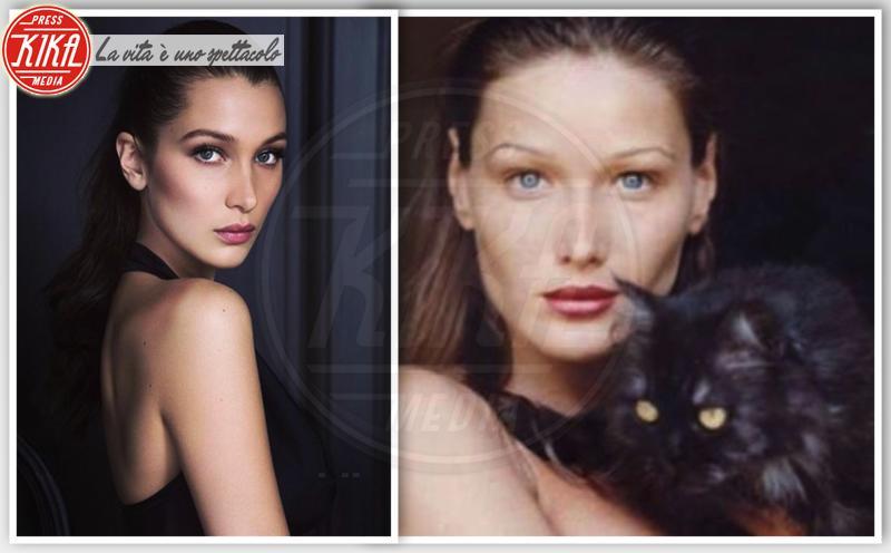 Bella Hadid, Carla Bruni - Parigi - 28-07-2016 - Separati alla nascita: le star e i loro cloni