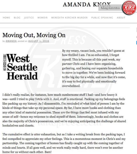 Amanda Knox - Seattle - 02-08-2016 - Amanda Knox parla della sua nuova vita