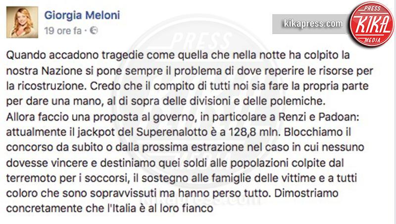 Giorgia Meloni - 25-08-2016 -