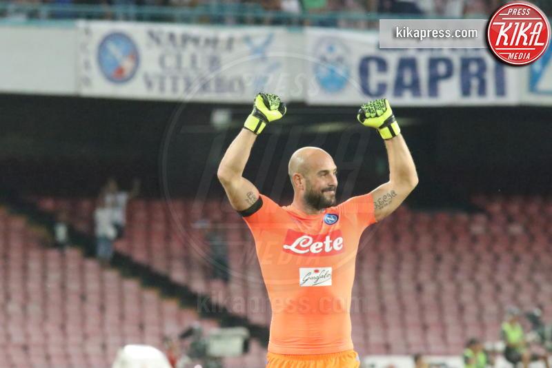 Pepe Reina - Napoli - 27-08-2016 - Il Napoli batte il Milan: rossoneri chiudono in 9