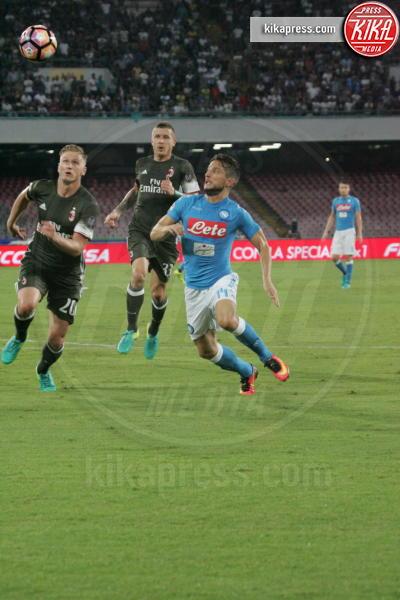 Dries Mertens, Ignazio Abate - Napoli - 27-08-2016 - Il Napoli batte il Milan: rossoneri chiudono in 9