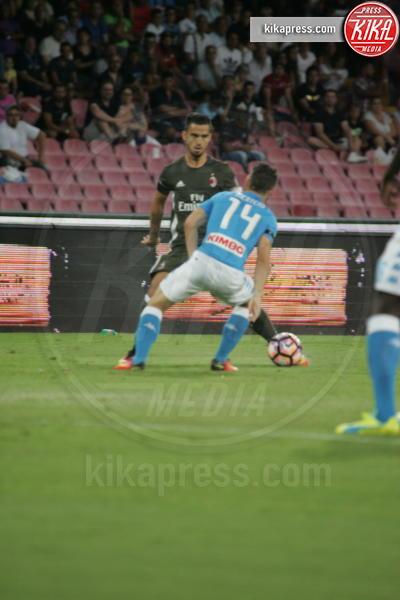 Gustavo Gomez, Dries Mertens - Napoli - 27-08-2016 - Il Napoli batte il Milan: rossoneri chiudono in 9