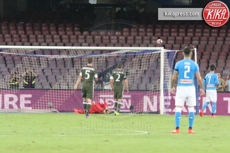 Gianluigi Donnarumma, Elseid Hysaj, Giacomo Bonaventura, Mattia De Sciglio - Napoli - 27-08-2016 - Il Napoli batte il Milan: rossoneri chiudono in 9