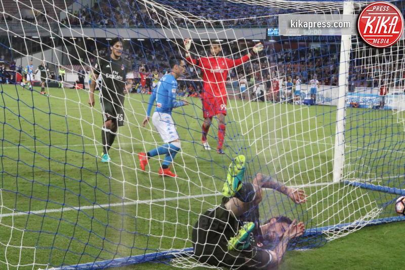 Gianluigi Donnarumma, Alessio Romagnoli - Napoli - 27-08-2016 - Il Napoli batte il Milan: rossoneri chiudono in 9