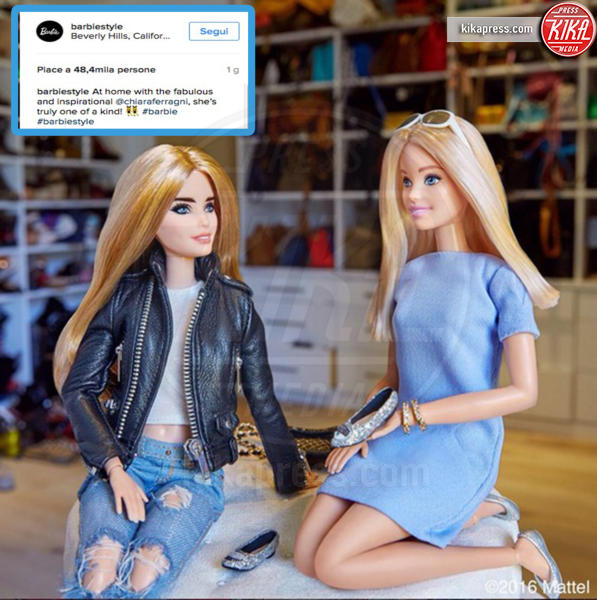 Barbie Chiara Ferragni, Barbie - 30-08-2016 - Chiara Ferragni, ecco la Barbie con le sue fattezze!