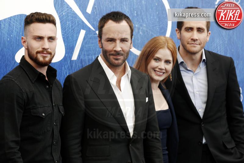 Aaron Taylor-Johnson, Amy Adams, Tom Ford, Jake Gyllenhaal - Venezia - 02-09-2016 - Aaron Taylor-Johnson migliore attore non protagonista