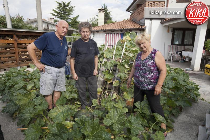 Gianni Giacovaz, Laura Contestabile, Oreste Giacovaz - Fogliano Redipuglia - 02-09-2016 - Il giardino miracoloso: girasoli e zucche in formato XXL