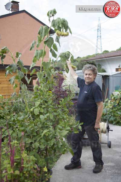 Gianni Giacovaz - Fogliano Redipuglia - 02-09-2016 - Il giardino miracoloso: girasoli e zucche in formato XXL