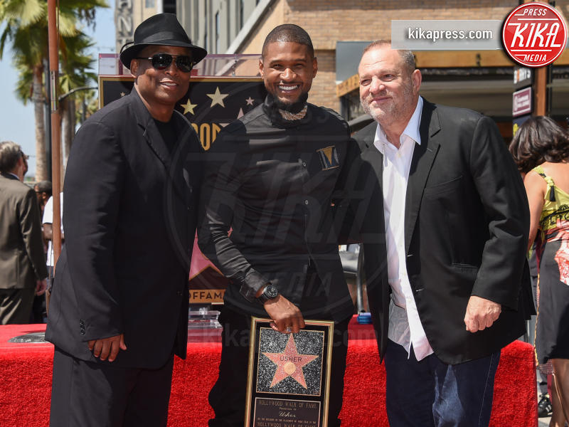 Usher, Harvey Weinstein - Hollywood - 07-09-2016 - Harvey Weinstein si è costituito: ecco le immagini
