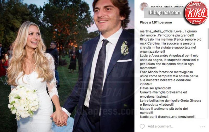 Andrea Manfredonia, Martina Stella - 08-09-2016 - Martina Stella:
