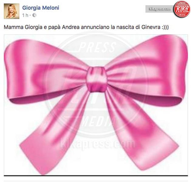 Ginevra Giambruno, Andrea Giambruno, Giorgia Meloni - 16-09-2016 - Giorgia Meloni è diventata mamma. Benvenuta Ginevra