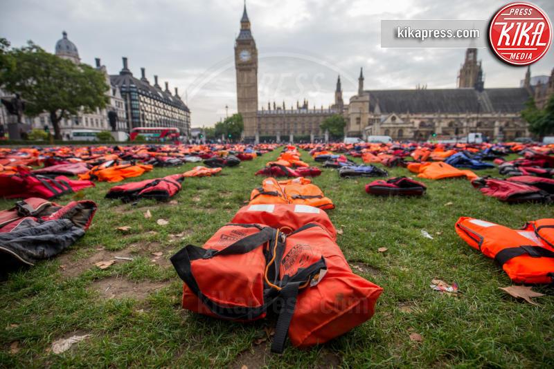 Londra - 19-09-2016 - A Londra un cimitero di giubbotti di salvataggio
