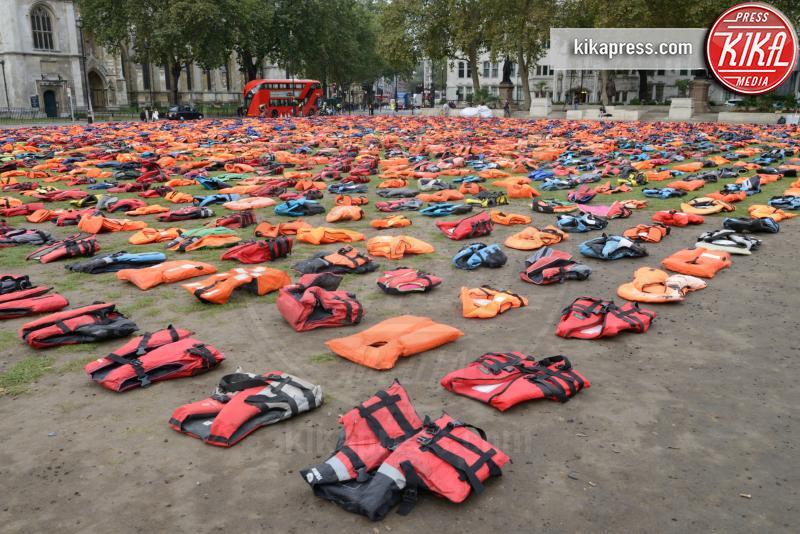 Lifejackets, Atmosphere - Londra - 19-09-2016 - A Londra un cimitero di giubbotti di salvataggio