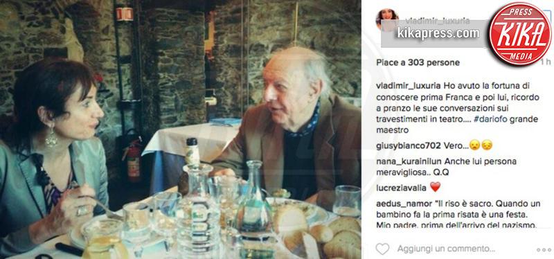 Dario Fo, Vladimir Luxuria - 13-10-2016 - La morte di Dario Fo: il cordoglio sui social