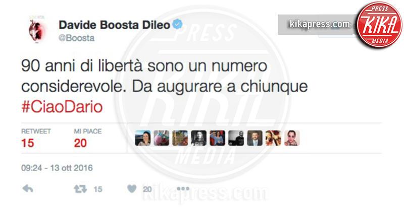 Boosta - 13-10-2016 - La morte di Dario Fo: il cordoglio sui social