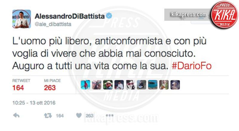Alessandro Di Battista - 13-10-2016 - La morte di Dario Fo: il cordoglio sui social