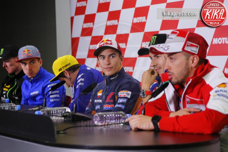 Marc Marquez, Andrea Dovizioso, Jorge Lorenzo, Valentino Rossi - Motegi - 13-10-2016 - Motegi: Valentino Rossi si sente favorito