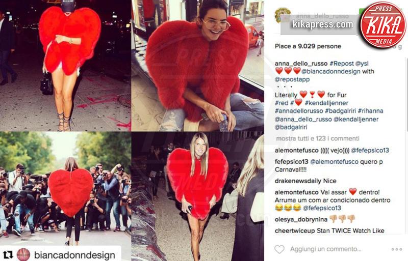 Kendall Jenner, Anna Dello Russo, Rihanna - 17-10-2016 - Chi lo indossa meglio? La mantella Heart di Yves Saint Laurent
