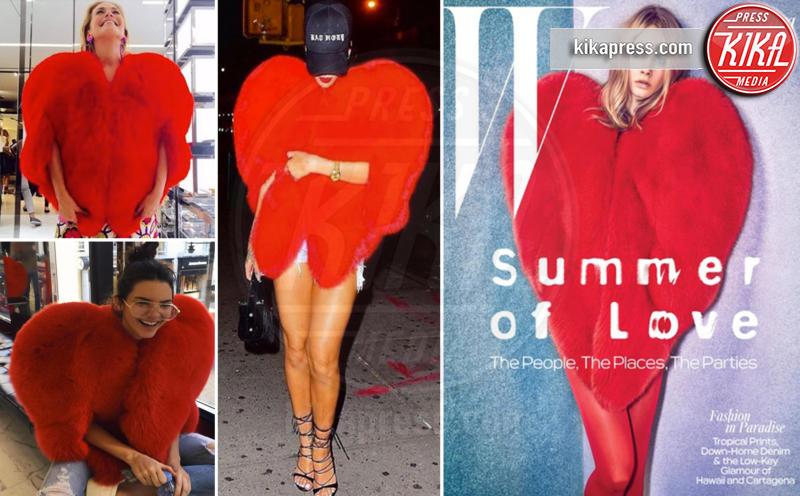 Cara Delevingne, Kendall Jenner, Barbara D'Urso, Rihanna - 17-10-2016 - Chi lo indossa meglio? La mantella Heart di Yves Saint Laurent