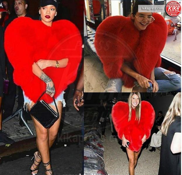 Kendall Jenner, Anna Dello Russo, Rihanna - 17-10-2016 - Il look di San Valentino? Pieno di baci... e di cuori!