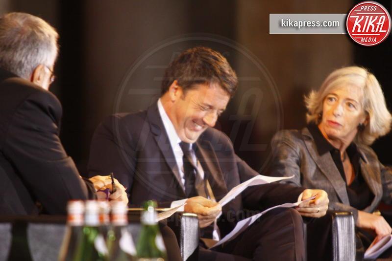 Roberta Pinotti, Matteo Renzi - Firenze - 17-10-2016 - Matteo Renzi agli stati generali della lingua italiana a Firenze