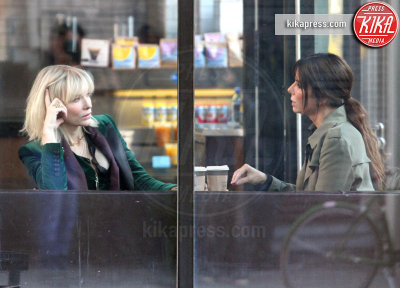 Sandra Bullock, Cate Blanchett - New York - 24-10-2016 - Cate Blanchett-Sandra Bullock, un caffè al gusto Oscar