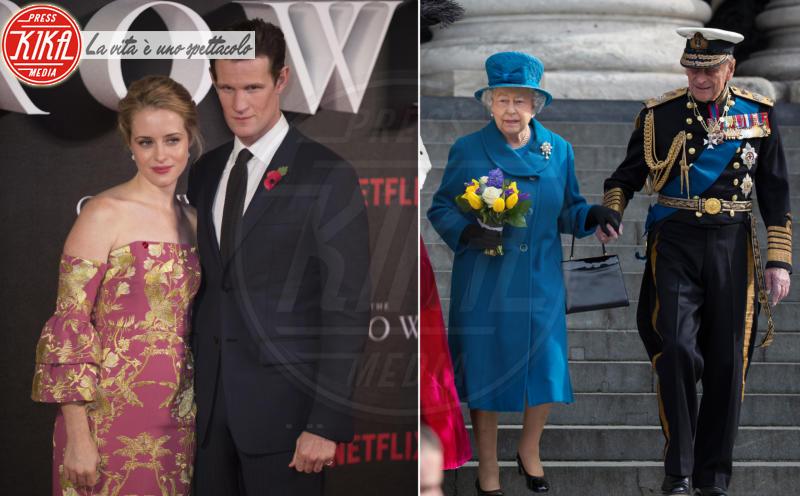 Claire Foy, Matt Smith, Regina Elisabetta II, Principe Filippo Duca di Edimburgo - 01-11-2016 - The Crown, la Regina Elisabetta II come non l'avete mai vista