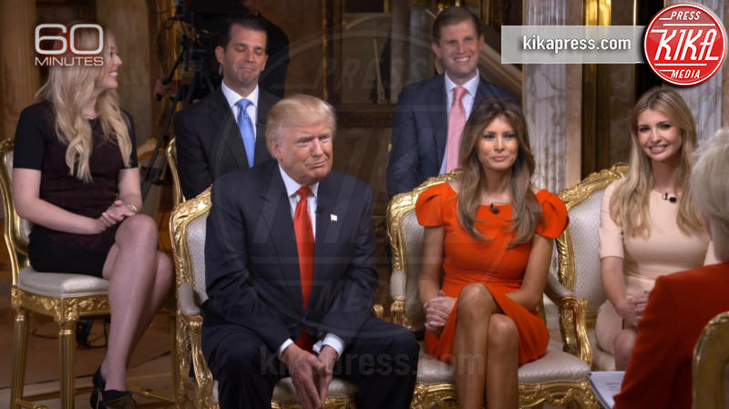 Melania Trump, Eric Trump, Donald Trump Jr., Tiffany Trump, Ivanka Trump, Donald Trump - Washington - 14-11-2016 - Donald Trump, la prima intervista da Presidente