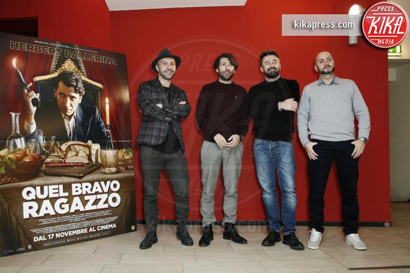 Ivo Avido, Herbert Ballerina, Maccio Capatonda, Enrico Lando - Milano - 15-11-2016 - Quel Bravo Ragazzo di Herbert Ballerina... al cinema!