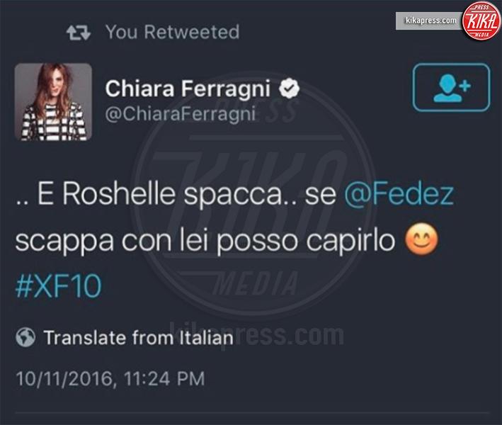 Chiara Ferragni - Milano - 16-11-2016 - X Factor 10: Roshelle, la rapper piu' sexy d'Italia