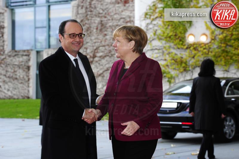 François Hollande, Angela Merkel - Berlino - 18-11-2016 - Vertice a Berlino: la Merkel si candida per il quarto mandato