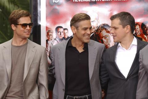 "Matt Damon, Brad Pitt, George Clooney - Hollywood - 05-06-2007 - Matt Damon: ""Vorrei essere come Brad Pitt"""