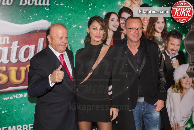 Gigi D'Alessio, Massimo Boldi, Anna Tatangelo - Roma - 01-12-2016 - Anna Tatangelo, bomba sexy per Un Natale al Sud