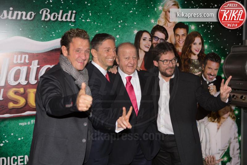Federico Marsicano, Enzo Salvi, Massimo Boldi - Roma - 01-12-2016 - Anna Tatangelo, bomba sexy per Un Natale al Sud
