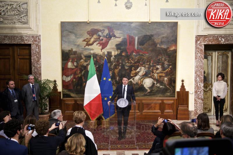 Agnese Renzi, Matteo Renzi - Roma - 05-12-2016 - Vince il No, Renzi: