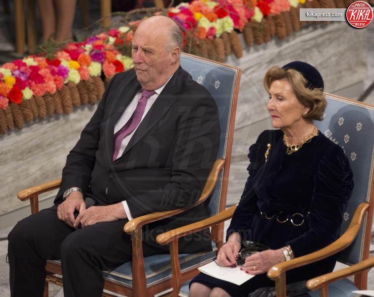 Re Harald di Norvegia, Regina Sonja di Norvegia - Stoccolma - 10-12-2016 - Nobel, a Stoccolma Patti Smith in rappresentanza di Bob Dylan