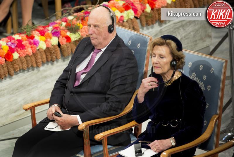 Re Harald di Norvegia, Regina Sonja di Norvegia - Oslo - 10-12-2016 - Nobel, a Stoccolma Patti Smith in rappresentanza di Bob Dylan