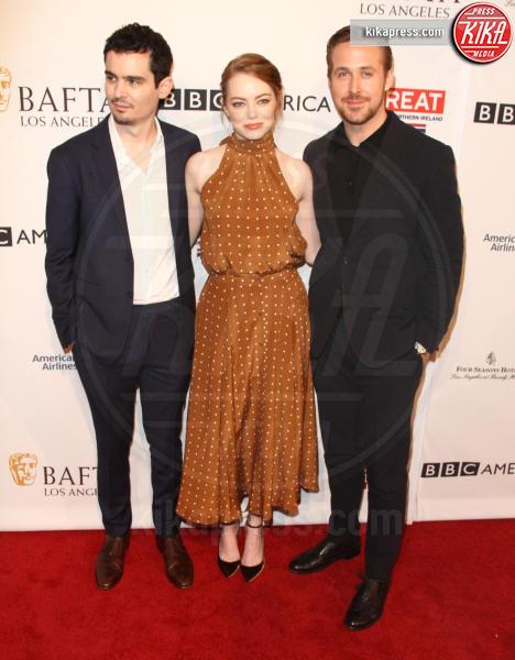 Damien Chazelle, Emma Stone, Ryan Gosling - Los Angeles - 07-01-2017 - Golden Globe 2017: Damien Chazelle è il Miglior Regista