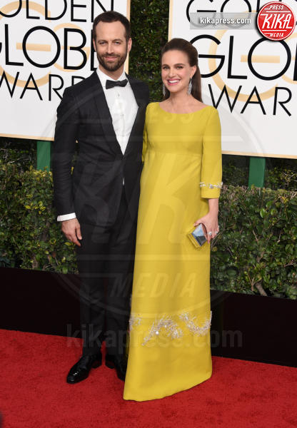 Benjamin Millepied, Natalie Portman - Beverly Hills - 08-01-2017 - Golden Globe 2017: gli arrivi sul red carpet