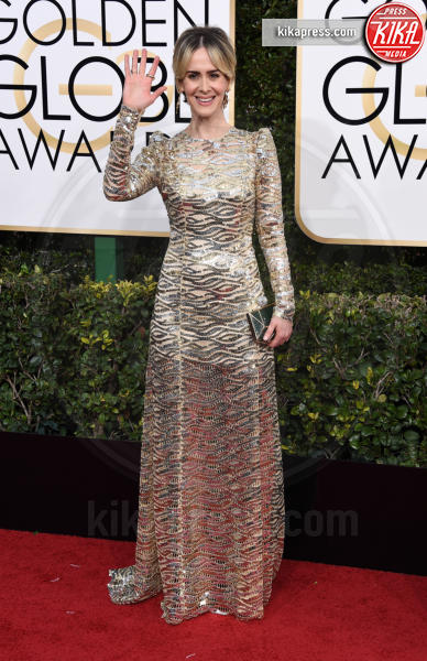 Sarah Paulson - Beverly Hills - 08-01-2017 - Golden Globe 2017: gli arrivi sul red carpet