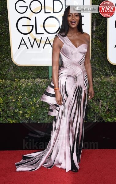 Naomi Campbell - Beverly Hills - 08-01-2017 - Golden Globe 2017: gli arrivi sul red carpet