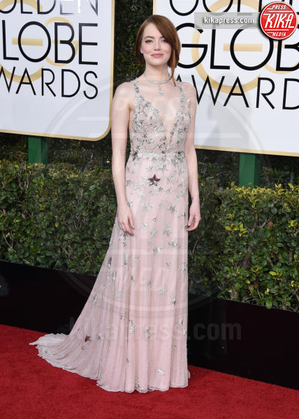 Emma Stone - Beverly Hills - 08-01-2017 - Golden Globe 2017: gli arrivi sul red carpet